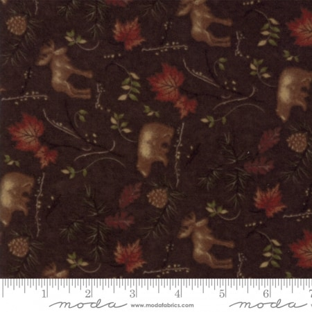 Return to Cub Lake Flannel - 6742 18F Dark Brown-0