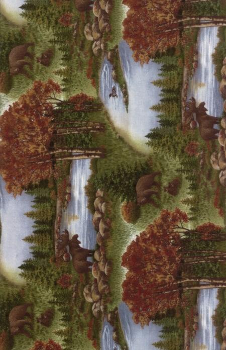 Return to Cub Lake Flannel - 6740 12F Chestnut-0