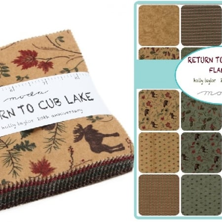 "Return to Cub Lake Flannel 5"" Charm Pack-0"
