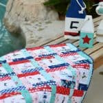 Fussy-Cutting a Seaside Mini Quilt