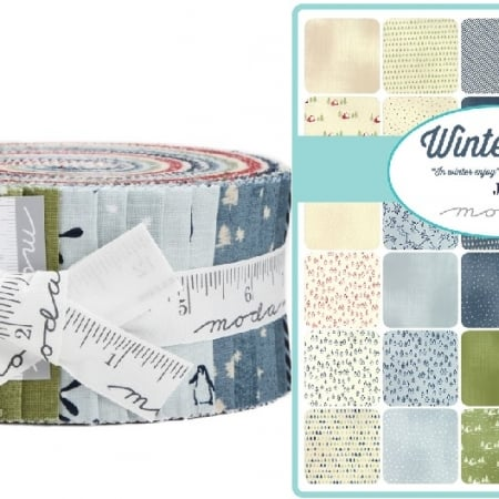 wintertide moda jelly roll