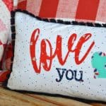 How to Applique Words into a Love You Pillow
