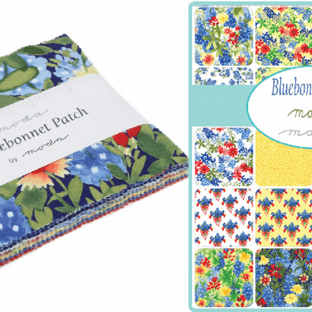 "Bluebonnet Patch 5"" Charm Pack-0"