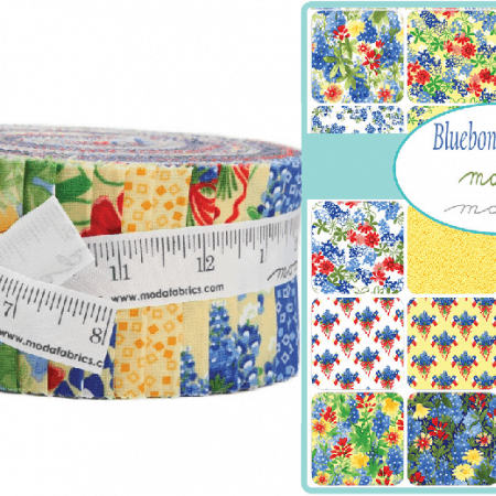 Bluebonnet Patch Moda Jelly Roll-0