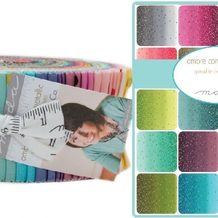 Ombre Confetti Metallic Moda Jelly Roll-0
