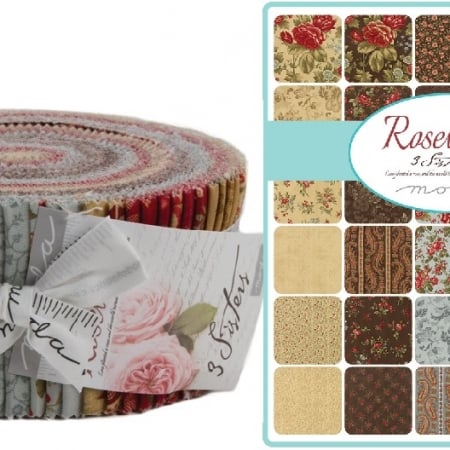 Rosewood Moda Jelly Roll-0