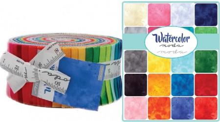 Watercolor Moda Jelly Roll-0
