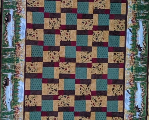 Flannel Quilt Kit Into the Woods Winter