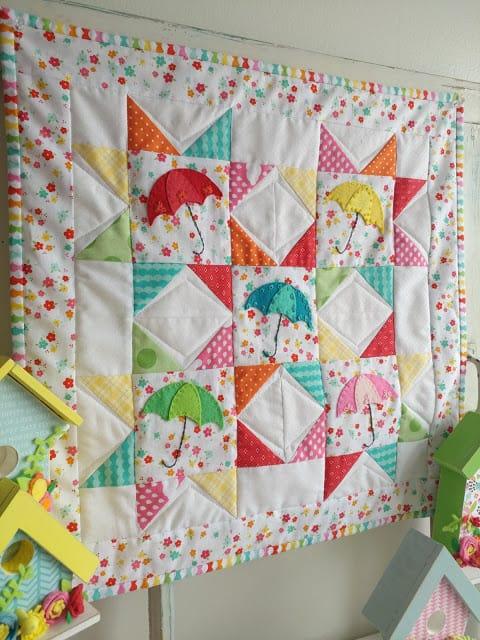 Springtime Showers Mini Quilt