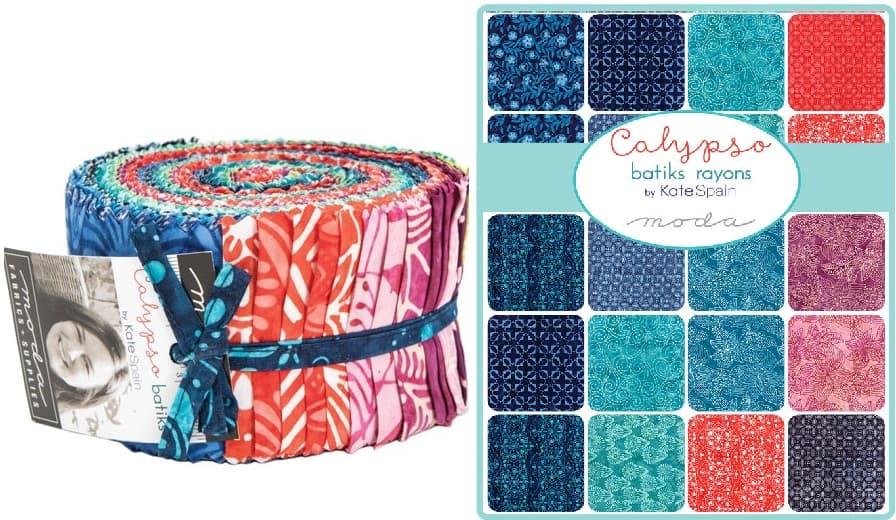 Calypso Batiks 34 Fat Quarter Bundle by Kate Spain for Moda Fabrics 27258AB